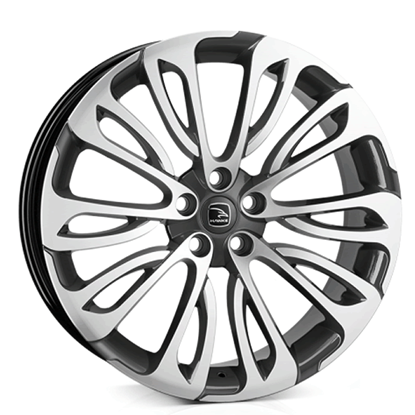 "22"" Hawke Halcyon Gun Metal Polish Alloy Wheels"