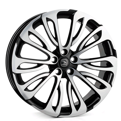 "22"" Hawke Halcyon Matt Black Polish Alloy Wheels"