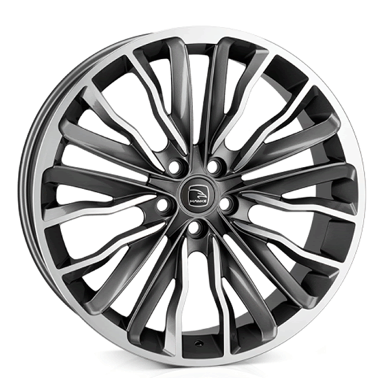 "20"" Hawke Harrier Gun Metal Polish Alloy Wheels"