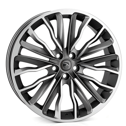 "22"" Hawke Harrier Gun Metal Polish Alloy Wheels"