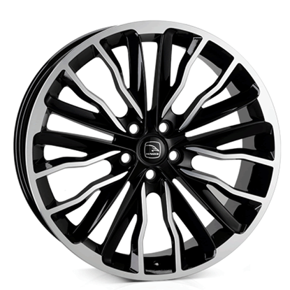 "22"" Hawke Harrier Black Polish Alloy Wheels"
