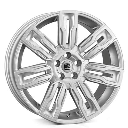 """22"""" Hawke Hermes Silver Alloy Wheels"""