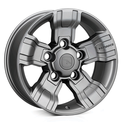"18"" Hawke Osprey Matt Gun Metal Alloy Wheels"