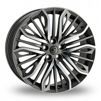"20"" Hawke Vega Gun Metal Polish Alloy Wheels"