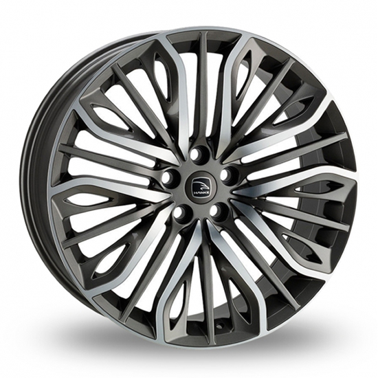 "20"" Hawke Vega Gun Metal Polish Alloy Wheels"