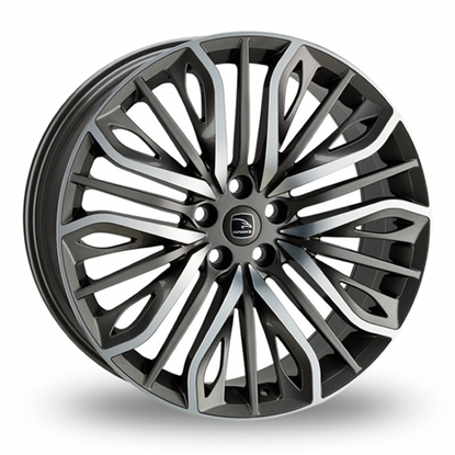 "22"" Hawke Vega Gun Metal Polish Alloy Wheels"