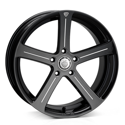 "19"" Cades Apollo Black Accent Alloy Wheels"
