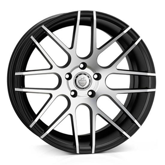 "18"" Cades Artemis Black Polish Alloy Wheels"