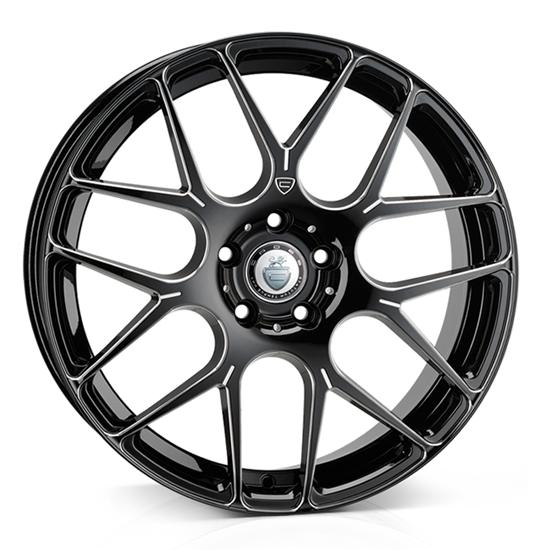 """20"""" Cades Bern Black Accent Alloy Wheels"""
