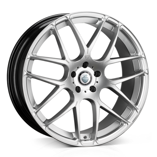 "22"" Cades Bern Silver Accent Alloy Wheels"