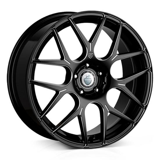 """18"""" Cades Bern Accent Black Accent Alloy Wheels"""