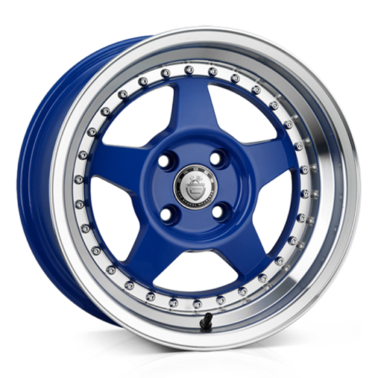 "15"" Cades Blast Blue Alloy Wheels"
