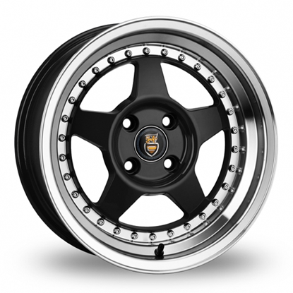 "15"" Cades Blast Black Polish Lip Alloy Wheels"