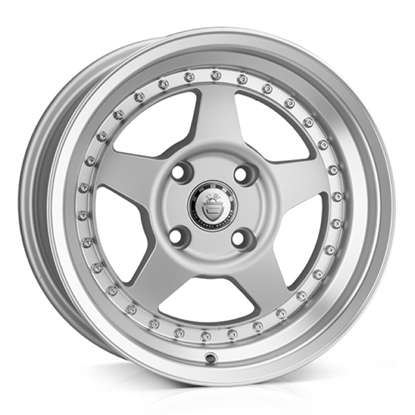 "15"" Cades Blast Matt Silver Alloy Wheels"