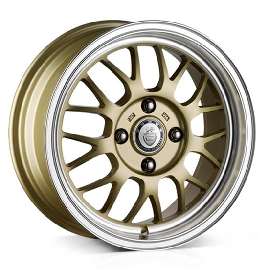 """15"""" Cades Eros Gold Alloy Wheels"""