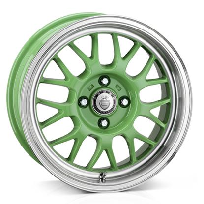 """15"""" Cades Eros Green Alloy Wheels"""