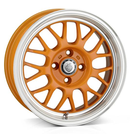 "15"" Cades Eros Orange Alloy Wheels"