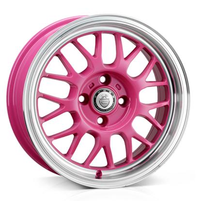 "15"" Cades Eros Pink Alloy Wheels"