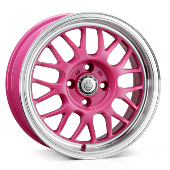 "15"" Cades Eros Pink Alloy Wheels"