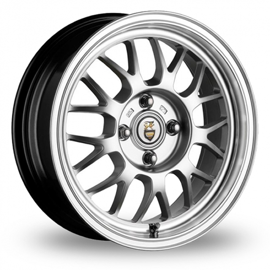 "15"" Cades Eros Silver Polish Lip Alloy Wheels"