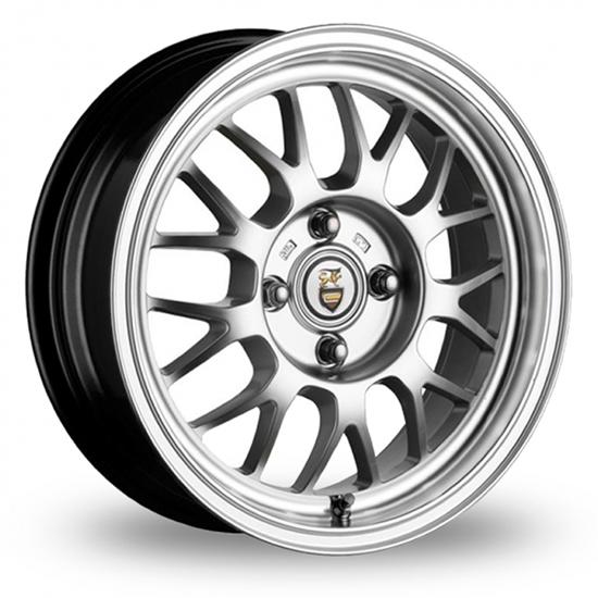 "16"" Cades Eros Silver Polish Lip Alloy Wheels"