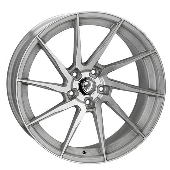 """20"""" Cades Kratos Brushed Silver Alloy Wheels"""