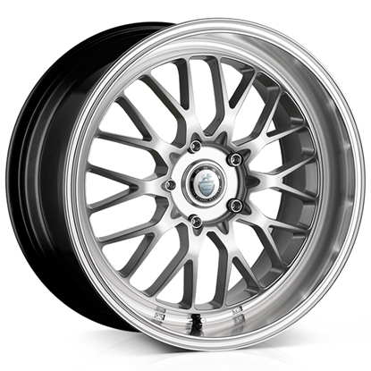 "17"" Cades Tyrus Silver Polish Lip Alloy Wheels"