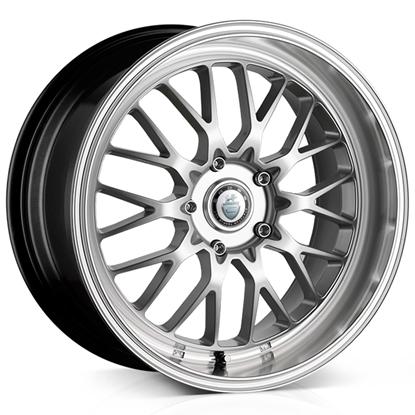 "18"" Cades Tyrus Silver Polish Lip Alloy Wheels"