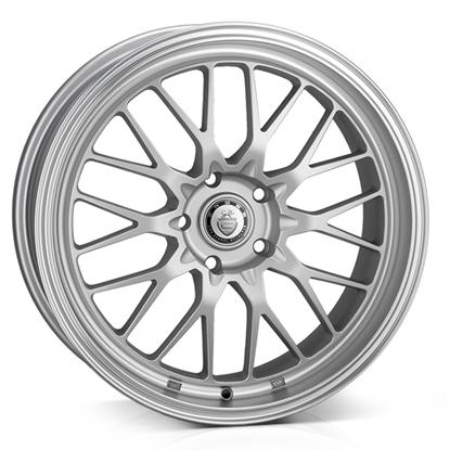 "18"" Cades Tyrus Matt Silver Polish Alloy Wheels"