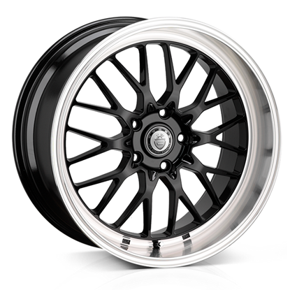 "19"" Cades Tyrus Black Polish Lip Alloy Wheels"