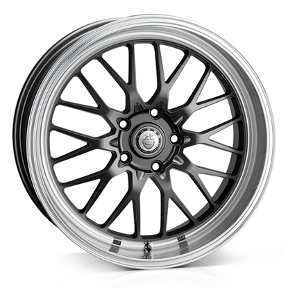 "19"" Cades Tyrus Dark GunMetal Polish Alloy Wheels"