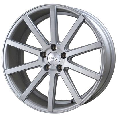 "22"" Judd T202 Matt Silver Brushed Polished Alloy Wheels"