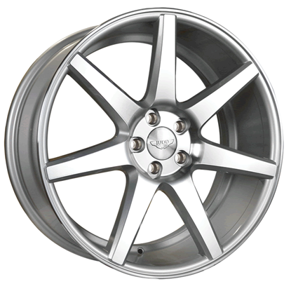 "20"" Judd T204 Silver Polished Face Alloy Wheels"