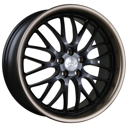 "20"" Judd T213 Matt Black Bronze Lip Alloy Wheels"