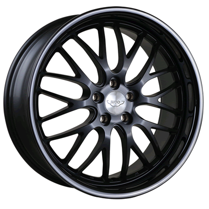 "20"" Judd T213 Matt Black Gloss Black Lip Alloy Wheels"