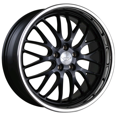 "20"" Judd T213 Matt Black Chrome Lip Alloy Wheels"