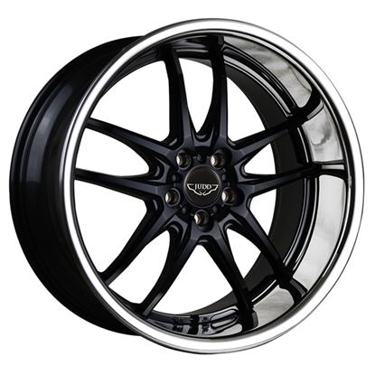"20"" Judd T404 Matt Black Chrome Lip Alloy Wheels"