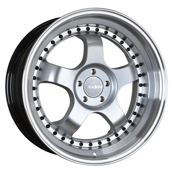 """15"""" Kambr 150R Silver Polished Lip Alloy Wheels"""