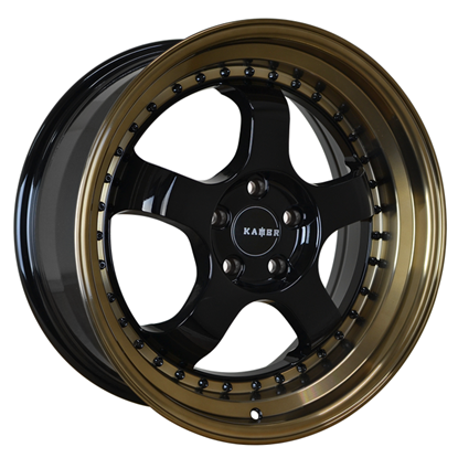 "15"" Kambr 150R Gloss Black Bronze Lip Alloy Wheels"
