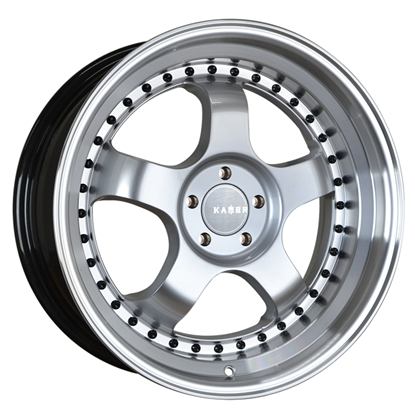 "17"" Kambr 150R Silver Polished Lip Alloy Wheels"