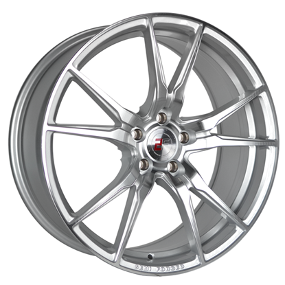 "20"" 2Forge ZF2 Silver Polished Face Alloy Wheels"