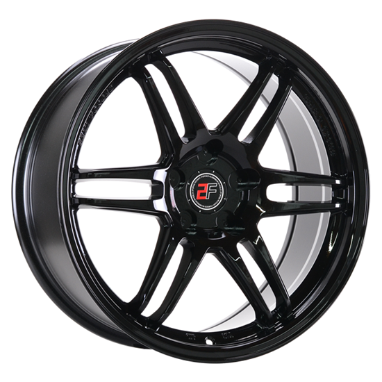 """18"""" 2Forge ZF5 Gloss Black Alloy Wheels"""
