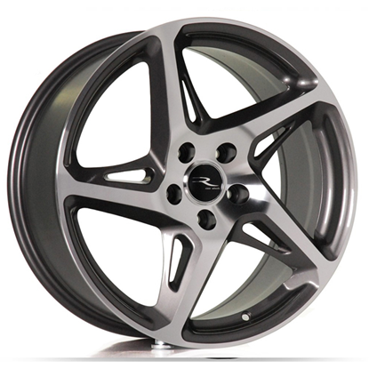 "18"" River R-4 GunMetal Polished Alloy Wheels"