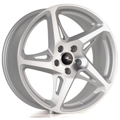 "19"" River R-4 Matt Silver Polished Alloy Wheels"
