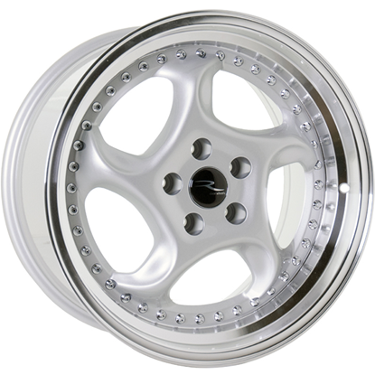 "18"" River R-6 Silver Polished Alloy Wheels"