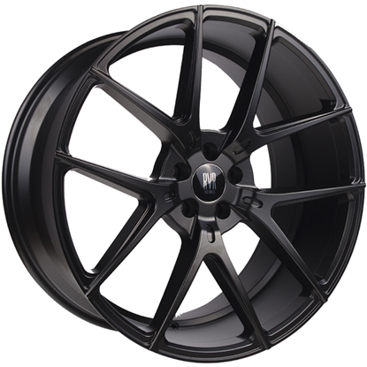 "22"" River R-9 Matt Black Alloy Wheels"