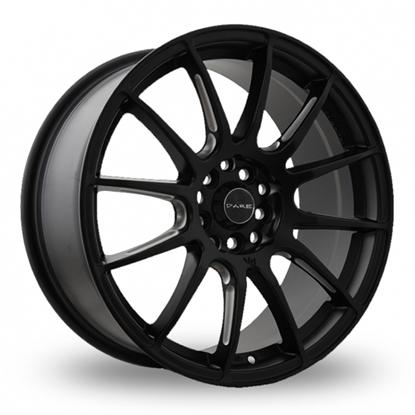 """17"""" Dare STR Matt Black Alloy Wheels"""