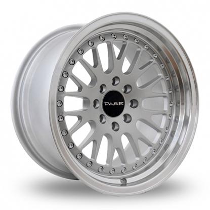 """15"""" Dare DCC Silver Alloy Wheels"""
