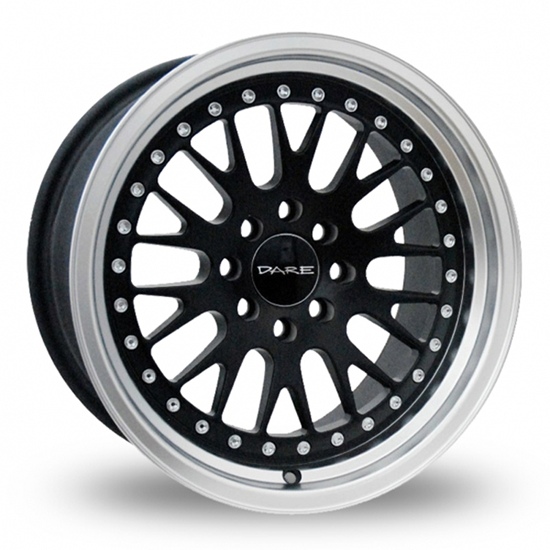 """15"""" Dare DCC Black Polished Alloy Wheels"""