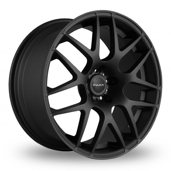 "17"" Dare DR-X2 Matt Black Alloy Wheels"